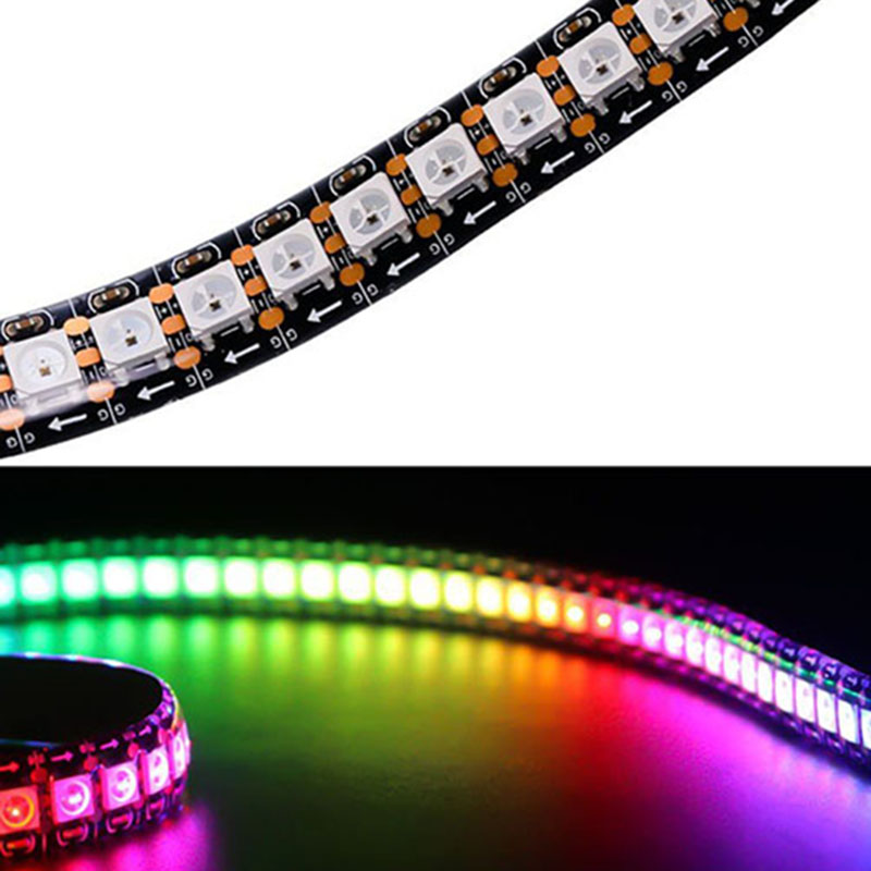 LED Lights Full Color Led Pixel Strip Lighting 2812B DC5V DIY PCB Waterproof @8 JDH99 ...
