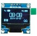 "2016 Novo Design 10 Pçs/lote 4pin New 128X64 OLED LCD Módulo Display LED 0.96 ""I2C IIC Comunicar"