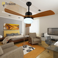 TRAZOS New Arrival 42 Inch LED Ceiling Fan Modern Fan Lights Remote Cooling Ceiling Fans Home Lighting Fan Lamps Fixtures