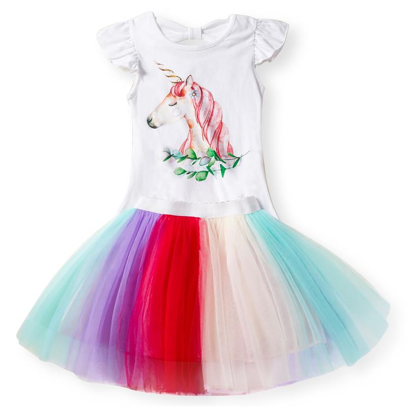 Mother & Kids Dresses Summer Unicorn Dress For Girls Sequins Heart Sleeveless Clothing Kids Dresses For Girls Unicorn Party Costume Size 3 5 8 Years