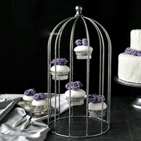 Silver Birdcage Cupcake Stand Wedding Table Candy Bar Party Supplier Dessert Display Decorating Tools