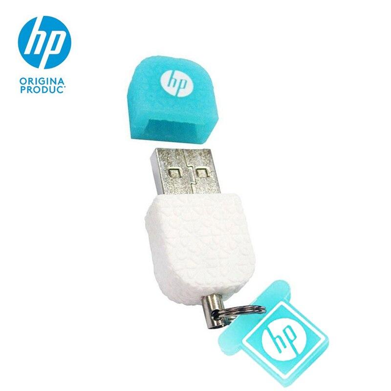 Original HP Pendrive 16gb 32gb 64gb v175w USB Flash Drive Personalizado silicona Cle USB Disk On key Merry Christmas Gift Stick|USB Flash Drives| |  - title=