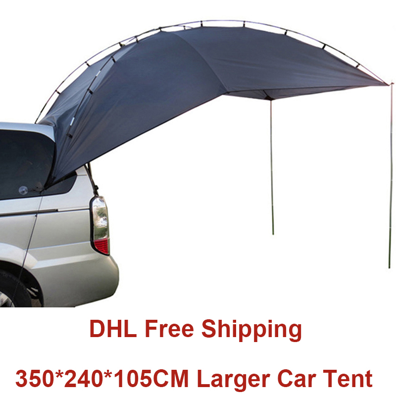 Outdoor Camping Tent For Car Anti-UV Garden Fishing Canopy Waterproof Travel Car Tent Awning Picnic Large Sun Shelter Beach Tent octagonal outdoor camping tent large space family tent 5 8 persons waterproof awning shelter beach party tent double door tents