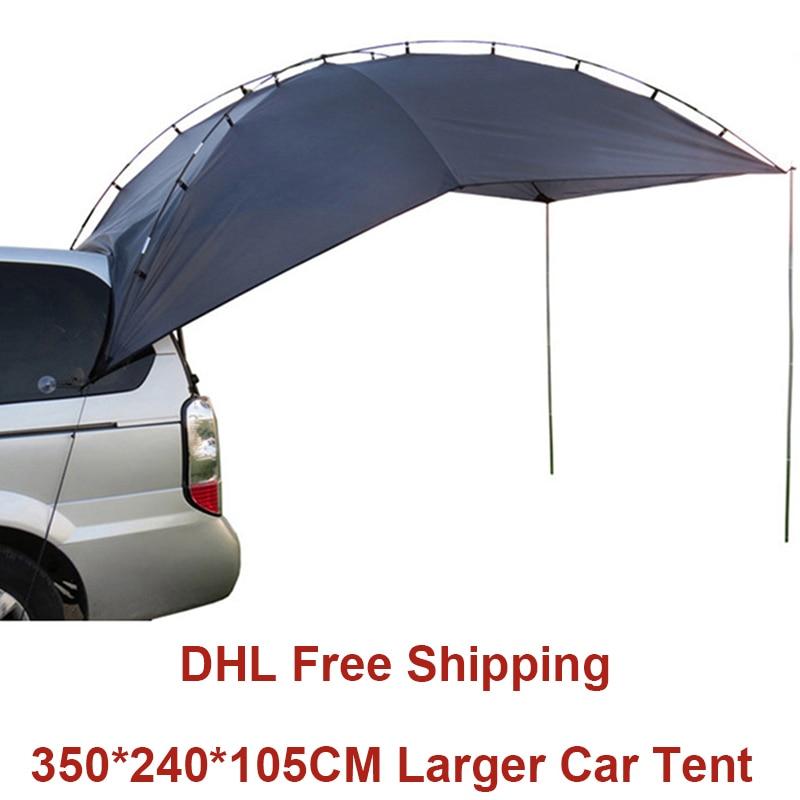 Tente de Camping en plein air pour voiture Anti-UV jardin auvent de pêche imperméable voyage tente de voiture auvent pique-nique grand abri de soleil tente de plage