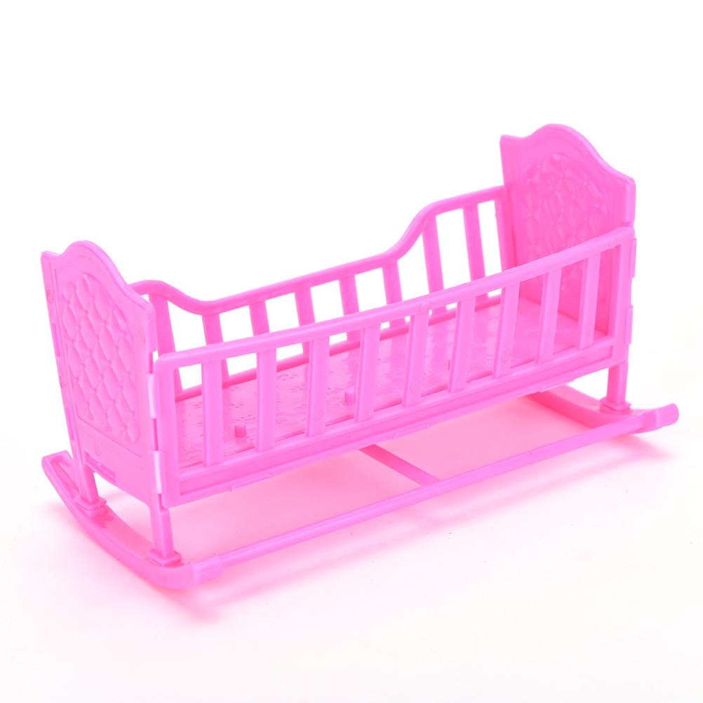 querida mueca muebles para american girl mecedora cama cuna para barbie doll regalo accesorios nias rosa