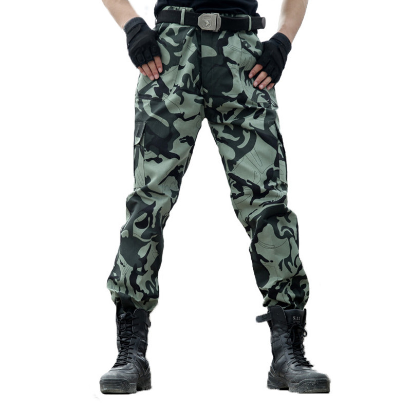 Cargo Pants Men Military Tactical Camouflage Pants Army Special Forces Hunter Trousers Plus Size Thin Pantalon