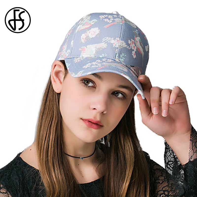 Floral Print Baseball Cap For Women 2017 Summer Fashion Flowers Hip Hop Caps Cotton Snapback Hat Adjustable Bone Casquette