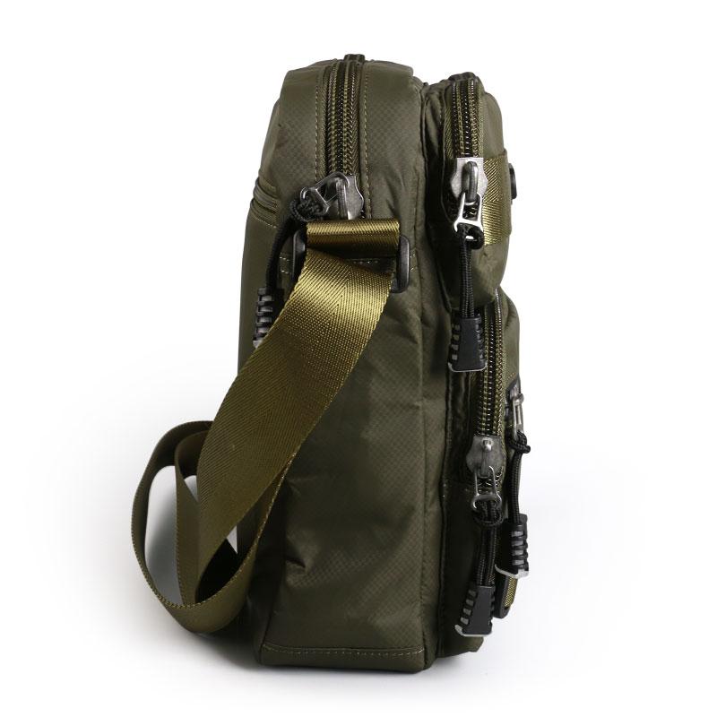 ファッションバッグ男性防水オックスフォード布ジッパーショルダーバッグ高品質メッセンジャーバッグ黒緑色旅行  グループ上の スーツケース & バッグ からの トップハンドルバッグ の中 3
