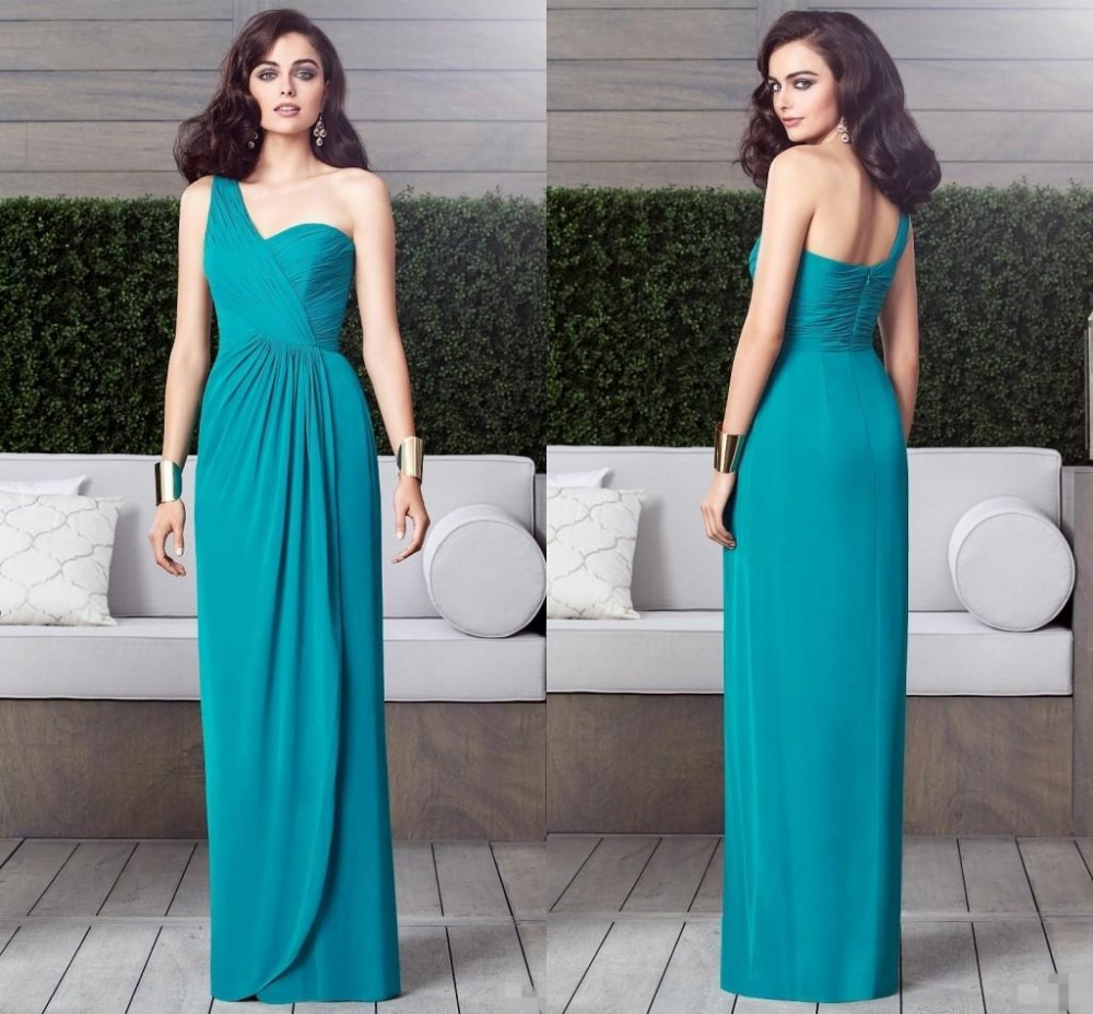 Popular dessy buy cheap dessy lots from china dessy suppliers on 2016 one shoulder dessy bridesmaids dresses zipper backless draped pleat floor length custom made vestido de ombrellifo Image collections