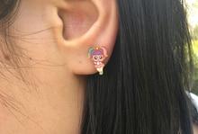 YLIOYE Cartoon Gold LOL Doll Pendants Stainless Steel Necklace Earrings Jewelry Sets