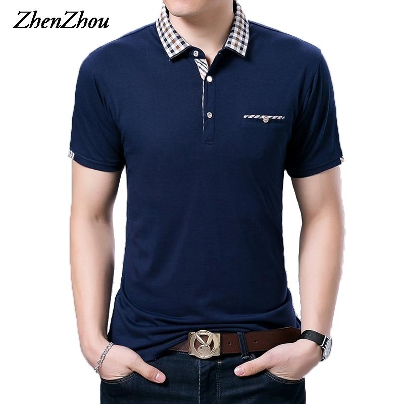 M-3XL 격자 무늬 칼라 여름 남성 망 셔츠 브랜드 반팔 티셔츠 남성 남성 Polos Para Hombre 2018 P82