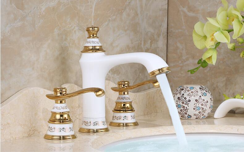 new arrival fashion high quality chrome and green Copper  cold and hot bathroom sink faucet basin mixer