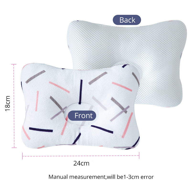 muslinlife bedding anti rollover baby pillow for head and neck support