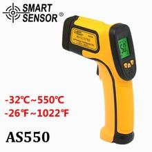 Цифровой термометр инфракрасный лазерный термометр ИК бесконтактный температура Gun-32-550C измерения электронный пирометр AS550