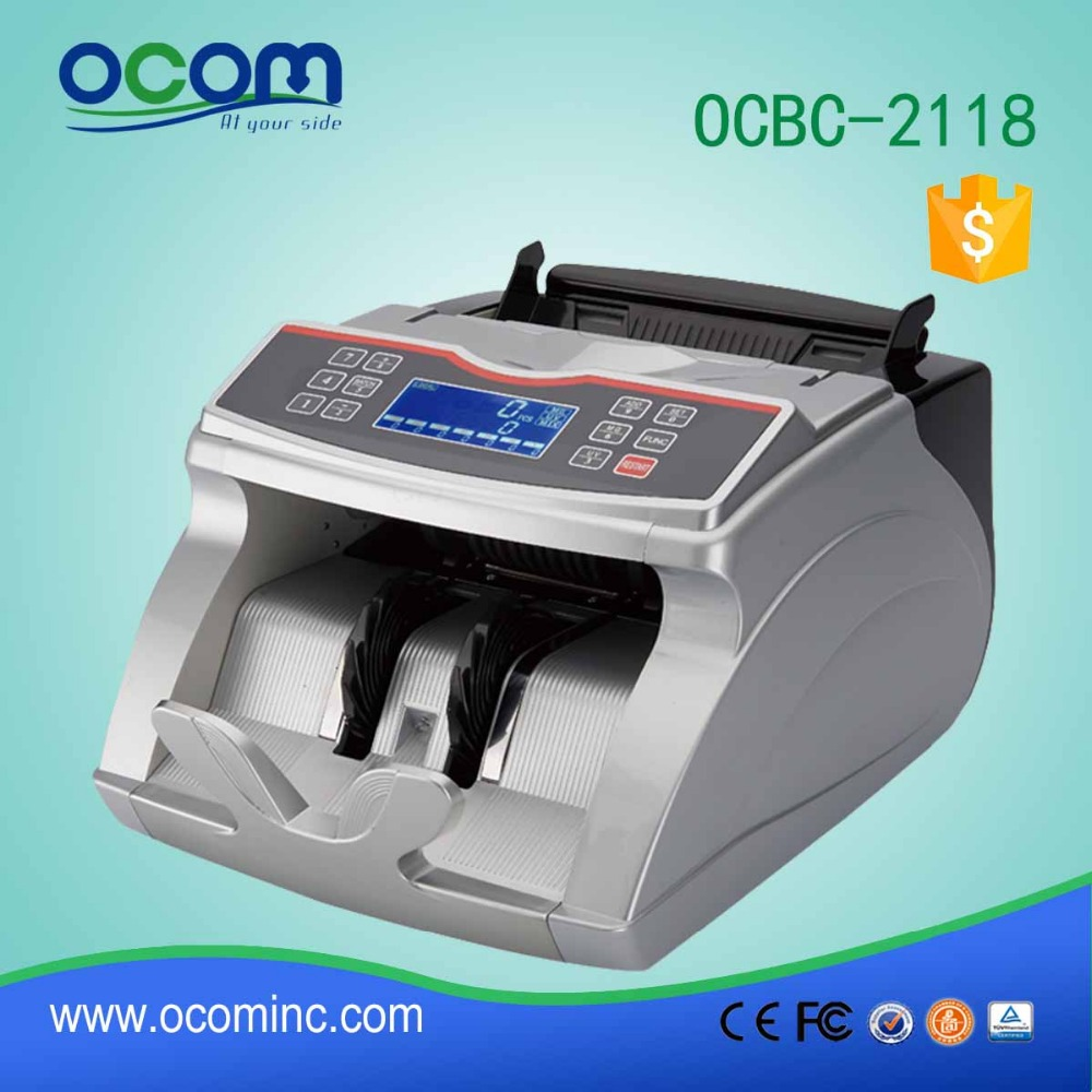 OCBC-2118(UV+MG): mini currency note counter counting and checking machine