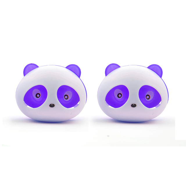 2pcs Cute Panda Car Styling Air Freshener Perfume ambientador para auto for Air Vent Decoration Car Smell Flavors Accessories