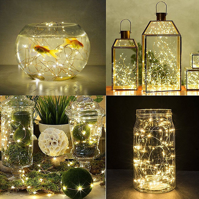 Bottle String Light LED Copper Wire Light String 2M Waterproof Fish Tank Bottle Decoration String Lights