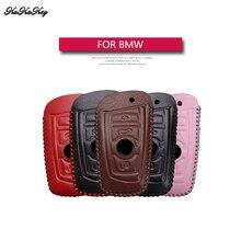Genuine Leather Remote Keyless Car Key Case Cover For BMW F10 F20 F30 Z4 X1 X3 X4 M1 M2 M3 E90 1 2 3 5 7 Key Shell Bag For Bmw 4 buttons car key cover fob remote shell case for bmw f10 f20 f30 f40 5 7 series m15
