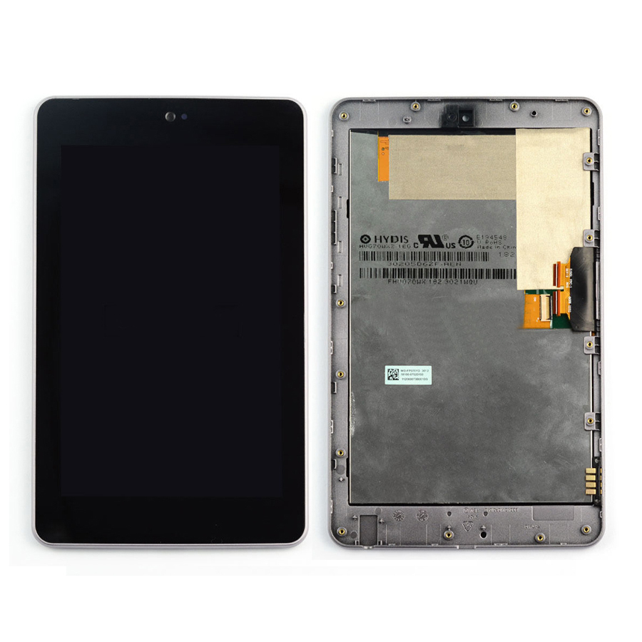 +Frame LCD Display + Touch Screen Digitizer Assembly Replacements For ASUS Google Nexus 7 2012 ME370T Wifi Version Free shipping
