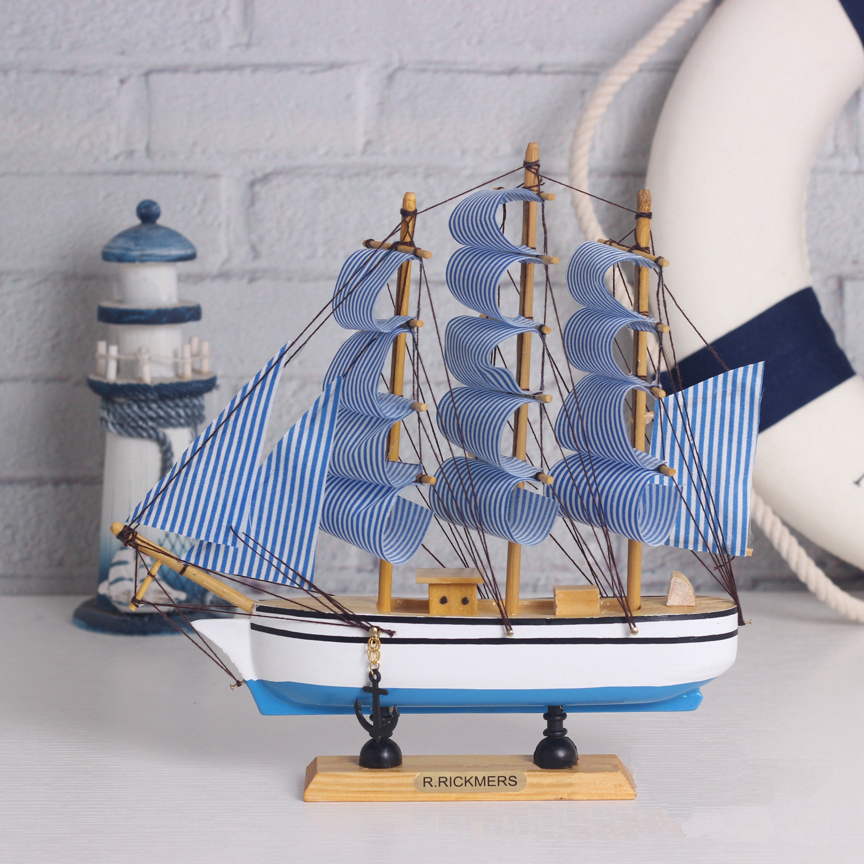 Wooden Ship Model Miniatur Marine Wood Maritime Boat Nautical Sailing Ship Home Desk Decoration Decor Crafts