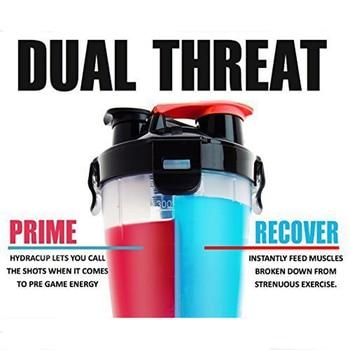 Dual Protein Powder Shaker Mixer BPA-free Water Bottle
