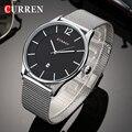 Malla De Luxo Relogio masculino Correa Del Reloj Para Hombre Relojes de Primeras Marcas de Lujo Reloj de Los Hombres Delgados Hombres Del Reloj de Moda Relojes de pulsera de Cuarzo