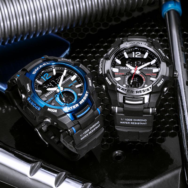 2019 Men Watches SMAEL Sport Watch Waterproof 50M Wristwatch Relogio Masculino Militar 1805 Men's Clock Digital Military Army