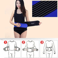 Hot Fashion Magnetic Therapy Waist Support Protection Spontaneous Tourmaline Heating Headache Belt Neck Massager Free Shipping