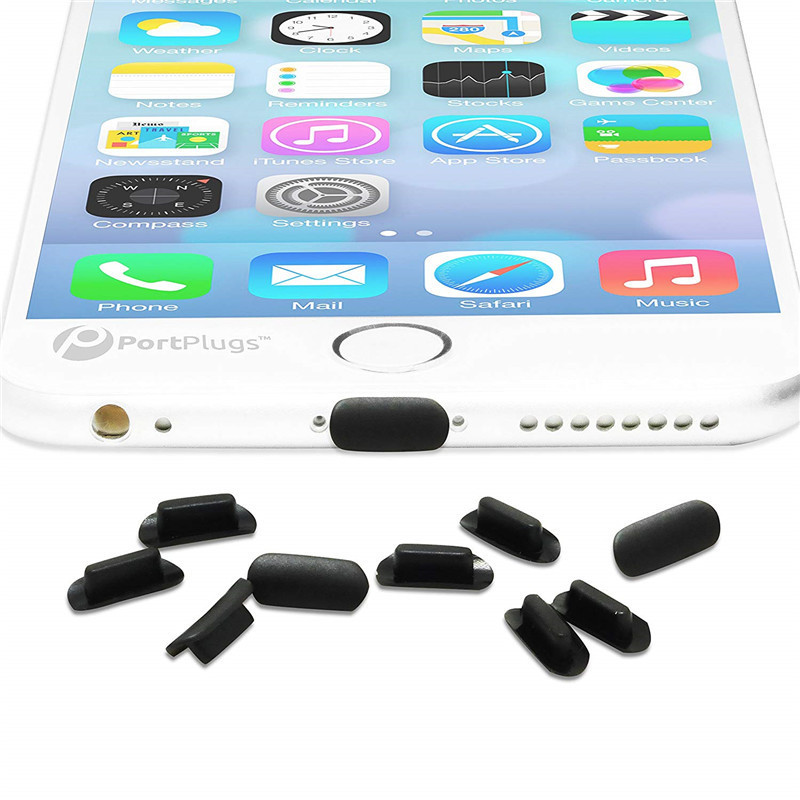 10 Pcs Silicone Dust Plug 8 Pin Charging Port Jack For Apple IPhone 8 Plus 7 X XS Ipad Ipod Lightning Holes