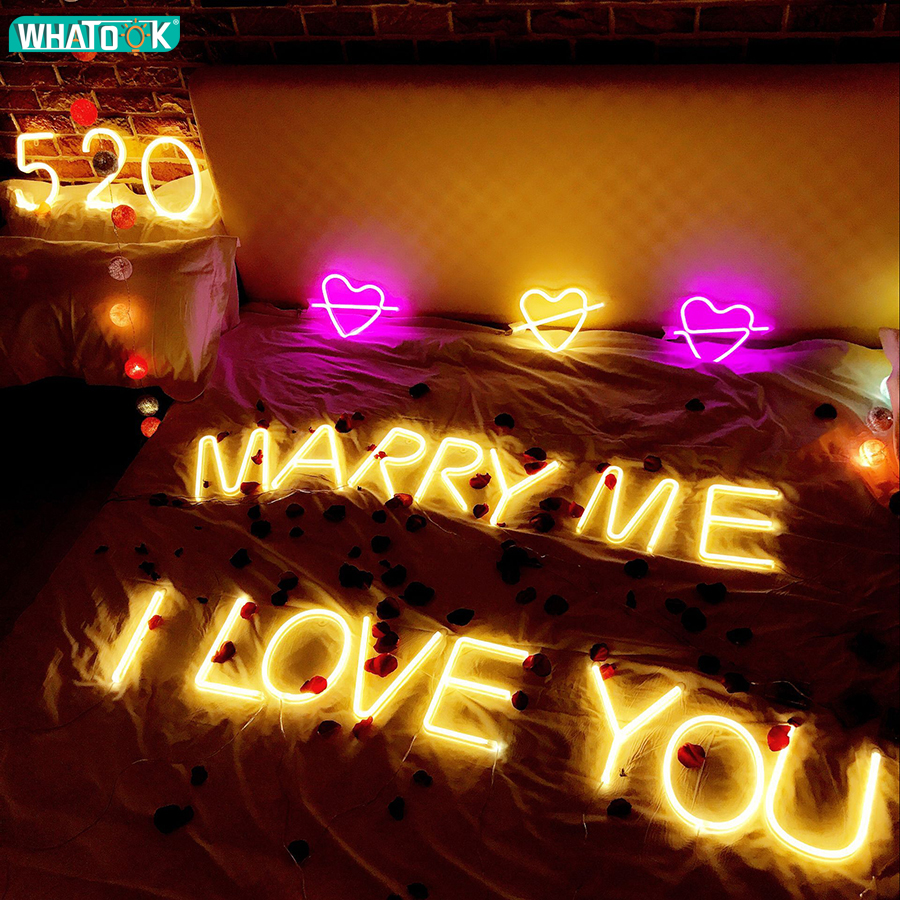 Romantic Night Lights Diy Neon Letter Number Alphabet