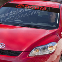 FOR TOYOTA Windshield Decal Auto Sticker PVC