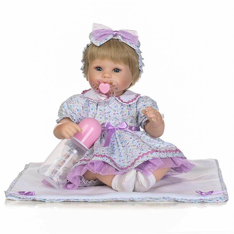 New 40cm Lifelike Reborn Dolls Toys Silicone Limbs + Soft Cloth Body Newborn Baby Girl Fashion Doll Smiling Princess Xmas Gifts