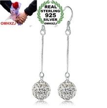 OMHXZJ Wholesale Fashion jewelry Princess long style Tassel Bohemia OL Drop drill ball 925 sterling silver Earrings YS46