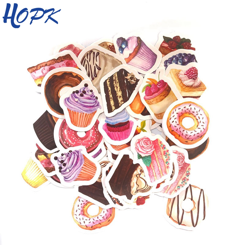 45 Pcs/Set Cute Sweet Dessert Cake Stickers Planner Decoration Diy Scrapbooking Label Journal Sticker Kawaii Stationery