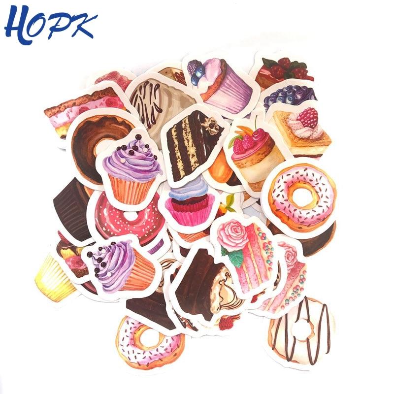 45 Pcs/Set Cute Sweet Dessert Cake Stickers Planner Decoration Diy Scrapbooking Label Journal Sticker Kawaii Stationery