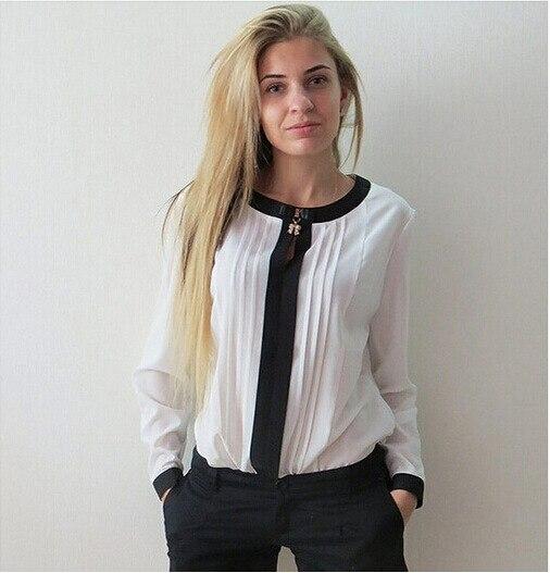 mujer de Blusa larga mujer Blusas mujer Blusas Renda en camisa Casual Femininas Blusas Blusas manga camisas sólido 2015 camisas camisa y color para nueva de qxX8xYZ