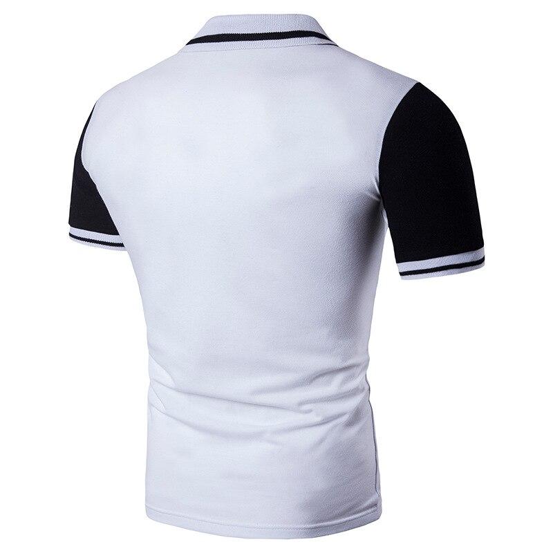 Camisa polo homem branco clássico único breasted polo pessoas cultivar a  moralidade de manga curta camisa polo slim fit masculino em Polo de Dos  homens de ... 183d548d0f266