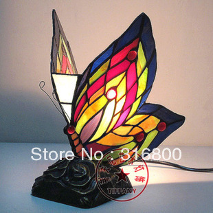 Здесь продается  Simulation Art Butterfly Lighting European Tiffany stained glass garden decorative table lamp bedside table lamp Bar lounge  Свет и освещение
