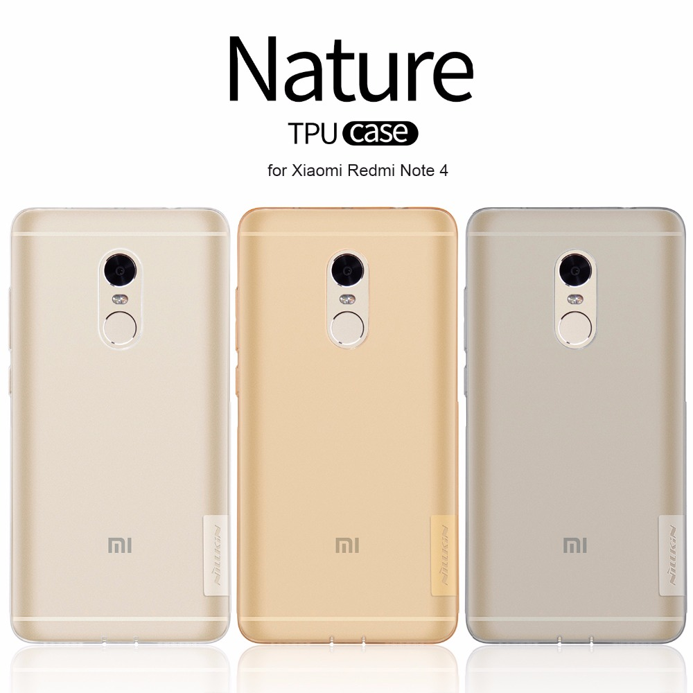Original Nillkin TPU 0.6mm Ultra thin Phone Cases Capa for Xiaomi Redmi Note 4 Silicone Cover Case with Retail Package