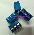 Especie de tiro Nuevo tipo tornillo terminal KF301-5.0mm PCB terminal 300 V 16A KF301-3P 5.0mm azul 3 pines tipo de bloque conector En stock