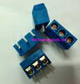 Kind shooting New screw type  terminal KF301-5.0mm PCB terminal 300V 16A KF301-3P 5.0mm blue 3pins block type connector In stock