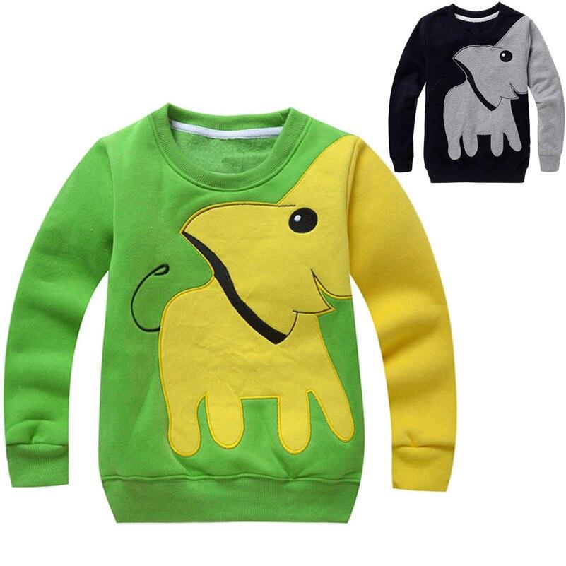 Da criança Do Bebê Meninas Meninos Roupas Elefante Manga Longa Blusa da Camisola Tops Camisa Hoodies Camisola das Crianças Para Crianças QC3 Modis