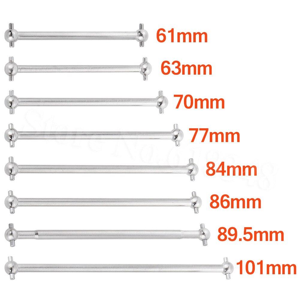 2pcs Steel Metal RC Car Drive Shaft Dogbone 61mm 63mm 70mm 77mm 84mm 86mm 89.5mm 101mm2pcs Steel Metal RC Car Drive Shaft Dogbone 61mm 63mm 70mm 77mm 84mm 86mm 89.5mm 101mm