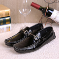 Italy Fashion Men Patent Leather Dress Loafers Handsome Creepers Genuine Leather Men Flats Slip-on Moccasins Men Zapatos Hombre