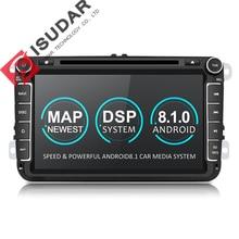 Isudar Автомагнитола штатная мультимедиа на андроид 8.1 2 Din с Сенсорным 8 Дюймовым Экраном для Автомобилей Volkswagen/VW/ Passat/POLO/GOLF/Skoda/Seat/Leon Радио WIFI DVD Плеер GPS Видеорегитратор Навигация OBD2 FM