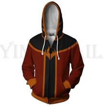 Sweatshirts Men and Women Zipper Hoodies Anime Avatar 3d Print Hooded Jacket for Boys Harajuku Streetwear Cosplay Zip up Hoodie swallow print zipper up jacket