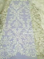 Cheaper wedding dress lace African Fabrics/French Net Embroidery Lace Fabric