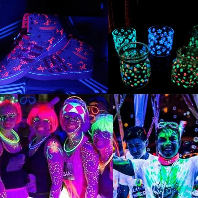 Nuit du visage lumière peinture maquillage lumineux Fluorescent corps  peinture Pigments visage corps tatouage henné Festival