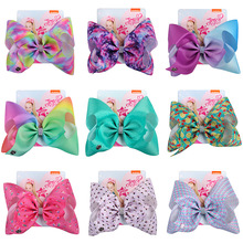 Jojo Siwa Baby Headwear Hair Bows for Girls With Alligator Clip Hairpin Handmade Ribbon Large 8Inch Accessories
