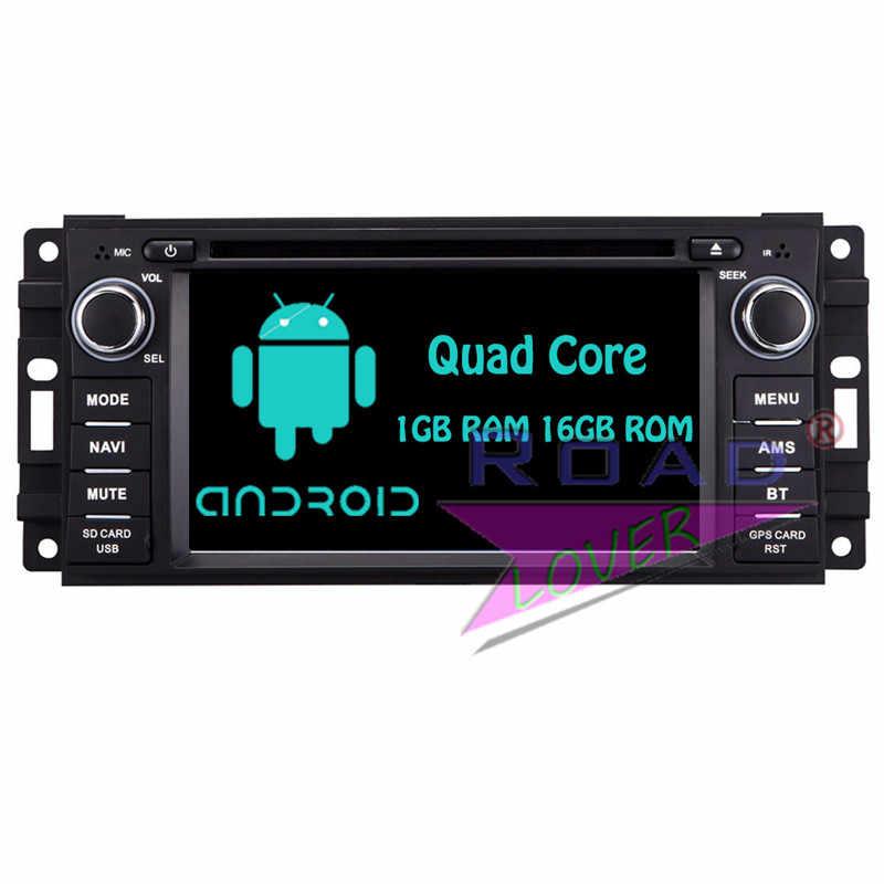 Roadloevr Android 6,0 reproductor de DVD del coche Auto Audio para Jeep comandante Wrangler estéreo navegación GPS Magnitol 2 Din Multimedia MP3